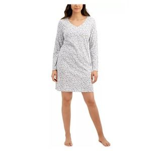 Charter Club Long-Sleeve Cotton Nightgown~ Small